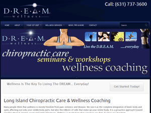 Online Marketing Muscle Web Design Client DREAM Wellness of Long Island, NY