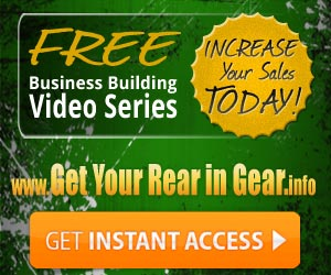 Get Your Rear in Gear Video Training Series