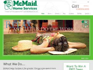 Online Marketing Muscle Web Design Client McMaid Home Services of Chicago, IL