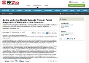View Online Marketing Muscle Press Release on PRWeb