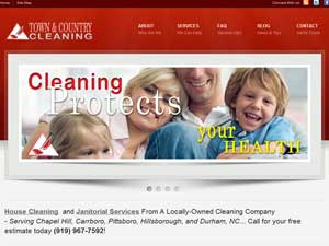 Online Marketing Muscle Web Design Client Town & Country Cleaning of Pittsboro, NC