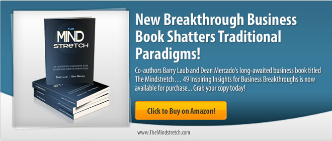 The Mindstretch Book by Dean Mercado and Barry Laub Banner Ad