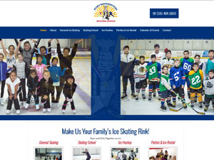 Website Samples by Online Marketing Muscle - Port Washington Skating Center