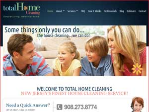 Online Marketing Muscle Web Site Design Client Total Home Cleaning