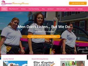 Online Marketing Muscle Web Design Client Spouses Cleaning Houses of Annapolis, MD
