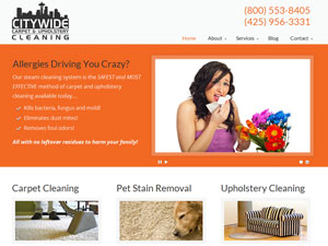 Online Marketing Muscle Web Design Client Citywide Carpet & Upholstery Cleaning of Issaquah, WA