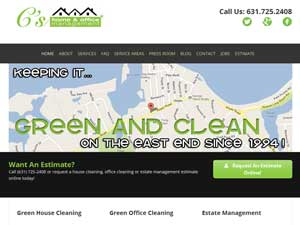 Online Marketing Muscle Web Design Client C's Home Management of Sag Harbor, NY