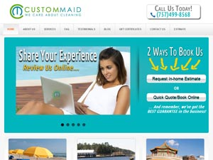 Online Marketing Muscle Web Design Client Custom Maid of Virginia Beach, VA