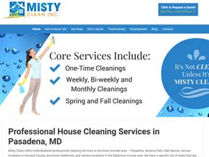 Website Samples by Online Marketing Muscle - Misty Clean
